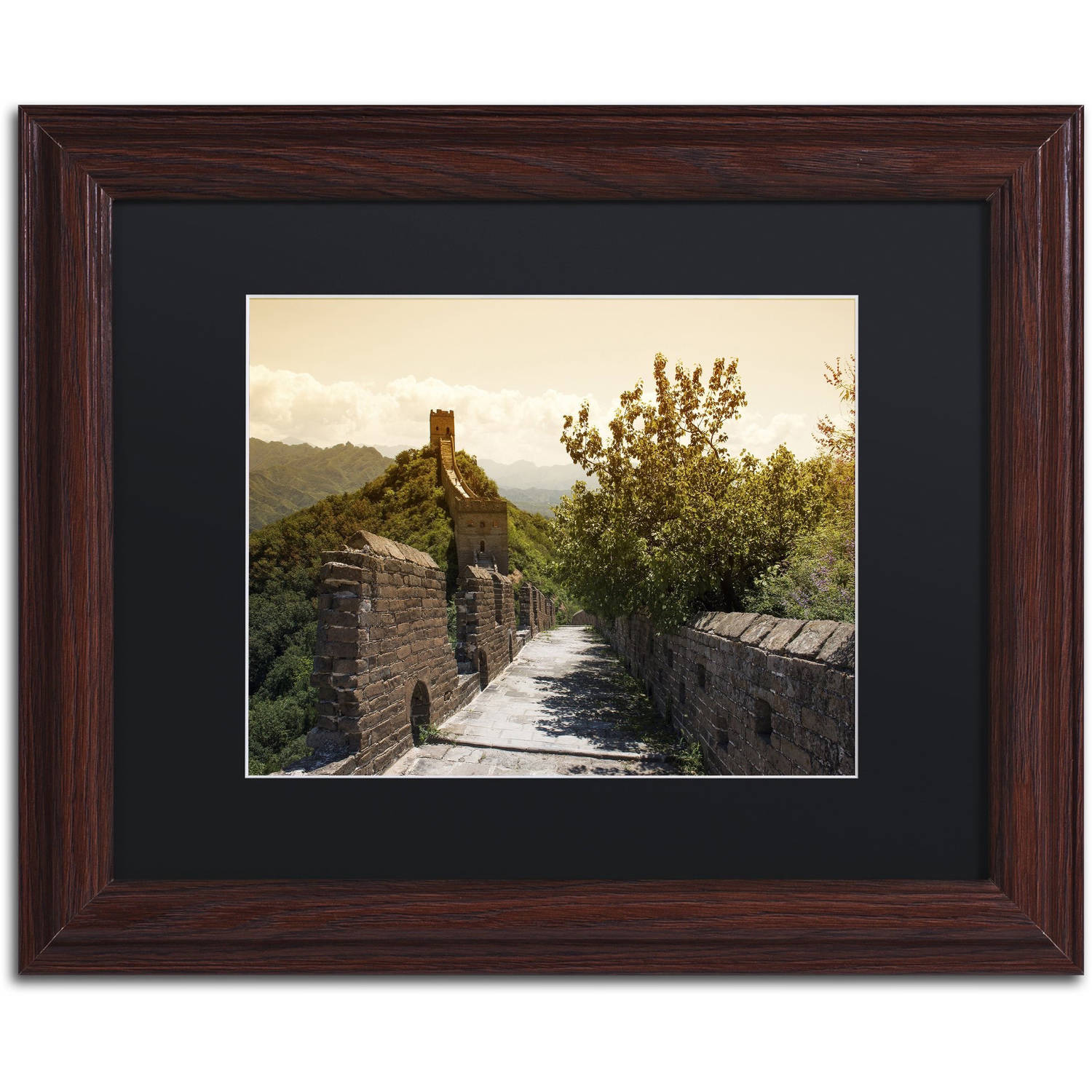 "Trademark Fine Art ""Great Wall III"" Canvas Art by Philippe Hugonnard, Black Matte, Wood Frame"
