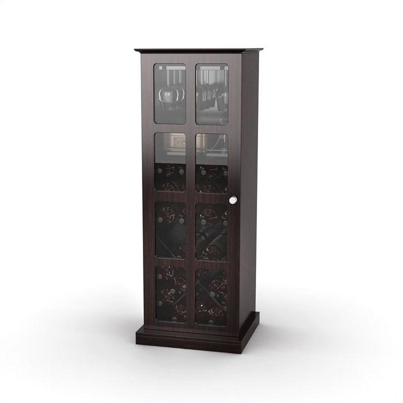 Atlantic Windowpane Wine Cabinet, Espresso by Atlantic