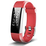 Sports Activity Fitness Tracker Watch Red with Heart Rate Monitor Multi sport Modes and GPS Tracking for Ru