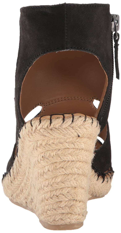 Franco Sarto Women's Nola Espadrille Wedge Sandal, Black, Size 9.0
