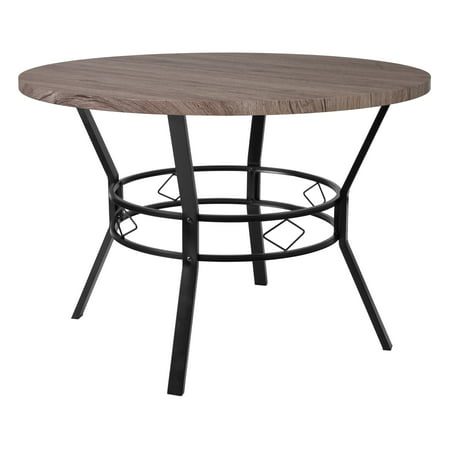 "Flash Furniture Tremont 45"" Round Dining Table in Distressed Gray Wood Finish"