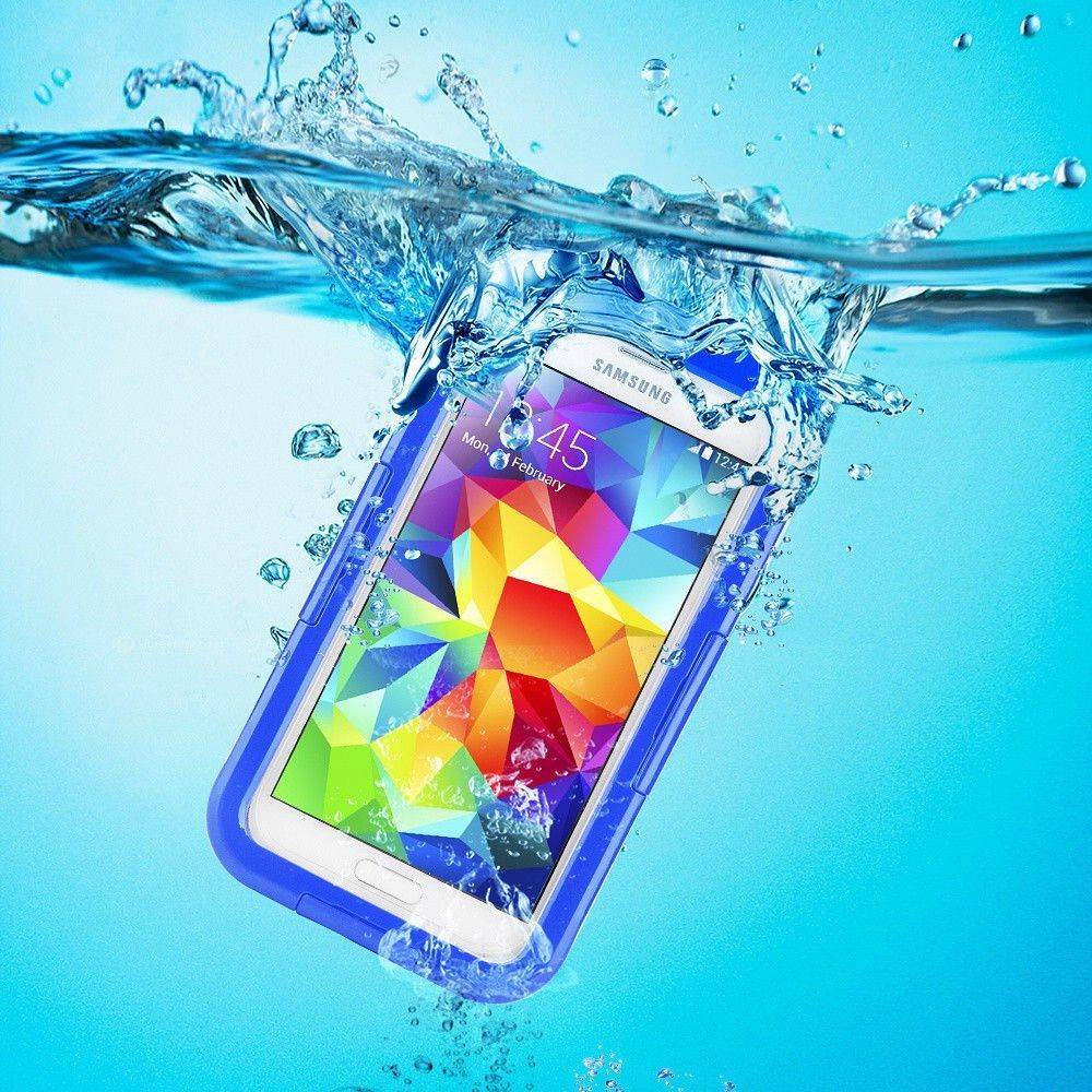 Samsung Galaxy S5/S4/S3 Full Body Sealed Waterproof Snowproof Shockproof Dirtproof Case Blue
