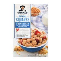 Quaker Oatmeal Squares Breakfast Cereal, Brown Sugar, 21 oz Box