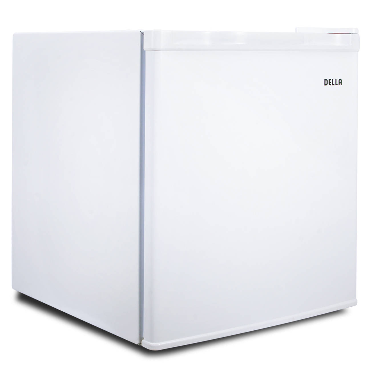 Della Portable Mini FridgeUpright Mini Refrigerator Freezer 1.1 Cubic Feet  Stainless Steel White Dorm Home