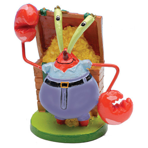 Penn Plax SpongeBob Mr. Krabs Mini Resin Aquarium Ornament