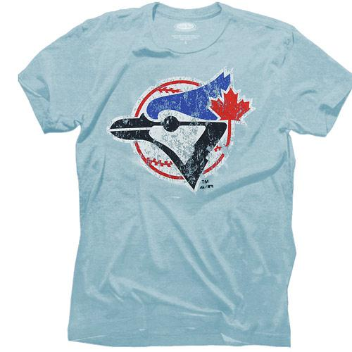 Majestic Threads Toronto Blue Jays Cooperstown Collection Tri-Blend T-Shirt - Light Blue