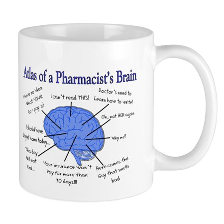 - CafePress - Atlas Of A Pharmacists Brain Mugs - Unique Coffee Mug, Coffee Cup CafePress