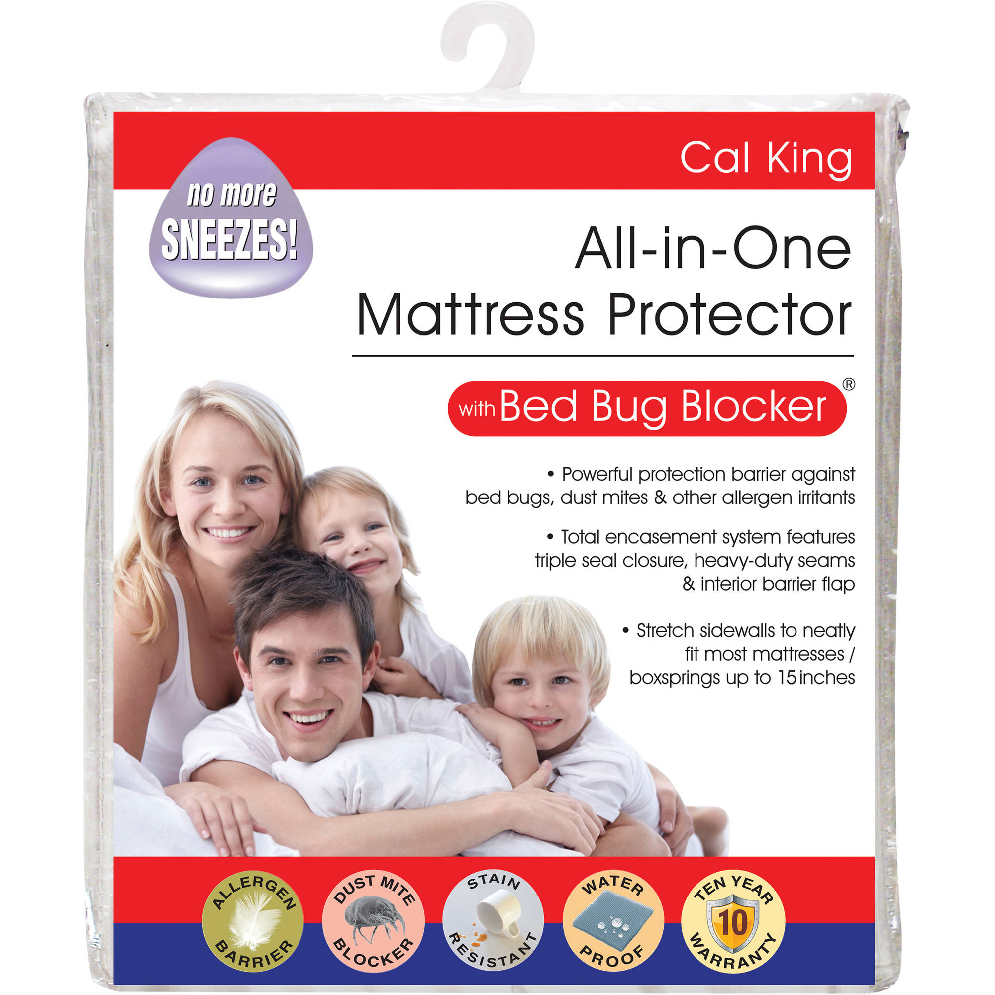 Luxury Cotton Rich Bed Bug Blocker Zippered Mattress Protector