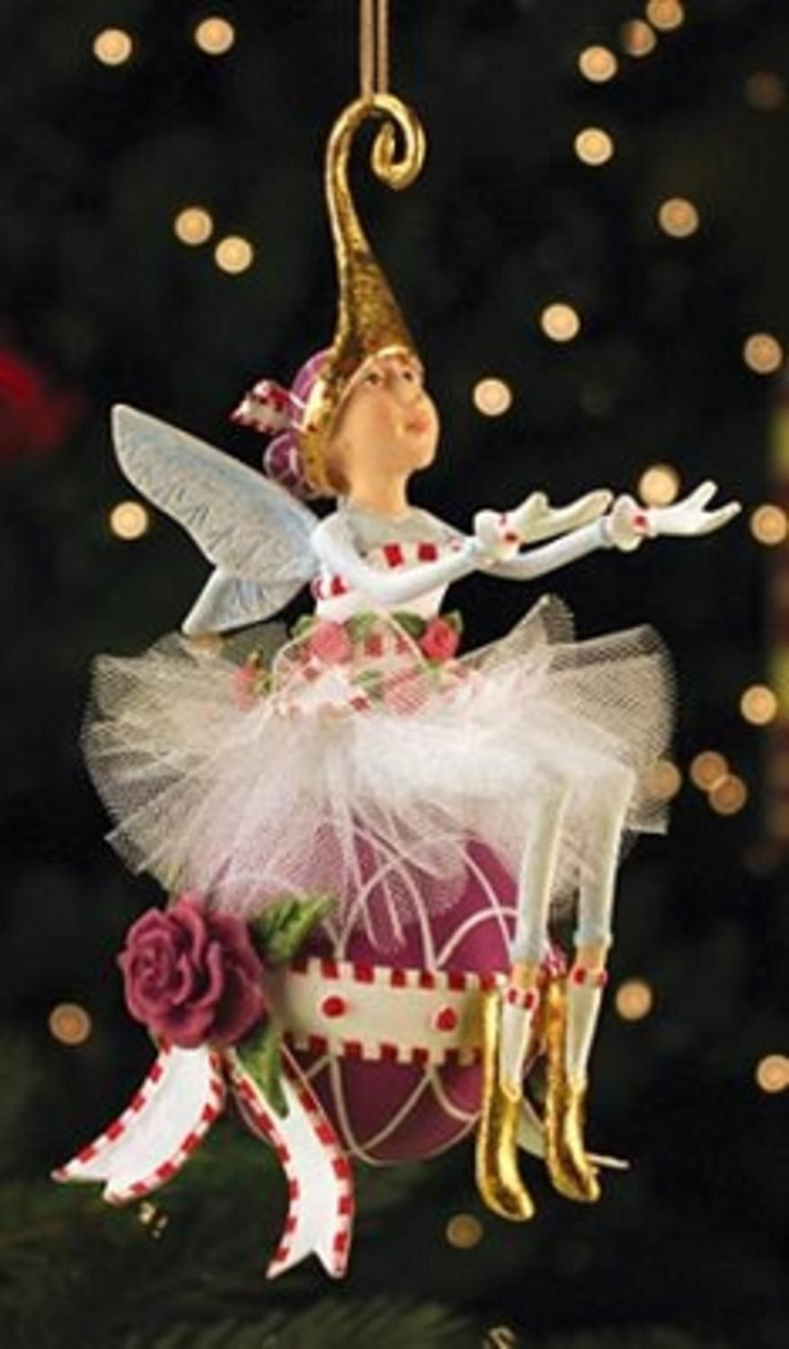 Fairy Christmas Ornaments.Patience Brewster Krinkles Sugar Plum Fairy Christmas Ornament