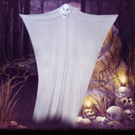 7ft Hanging Ghost Halloween Skeleton Scary Party Props Creepy Door Haunted House Decoration](Door Props)