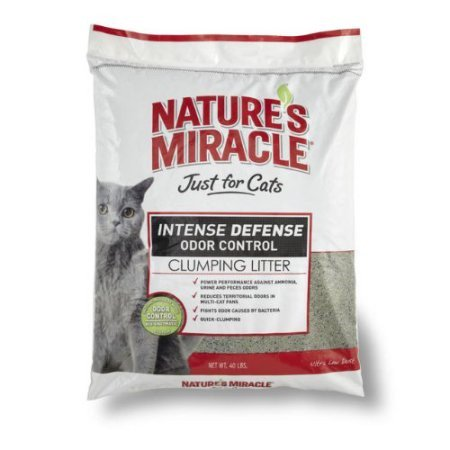 Natures Miracle Intense Defense Clumping Litter  40 Pound