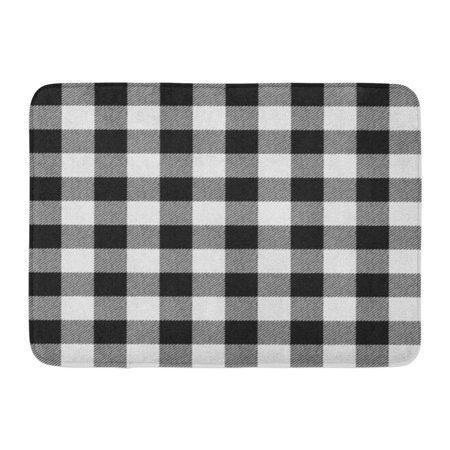 LADDKE Black White Buffalo Plaid Check Lumberjack Autumn Bright Cabin Doormat Floor Rug Bath Mat 23.6x15.7 inch (Bath Mat Cabin)