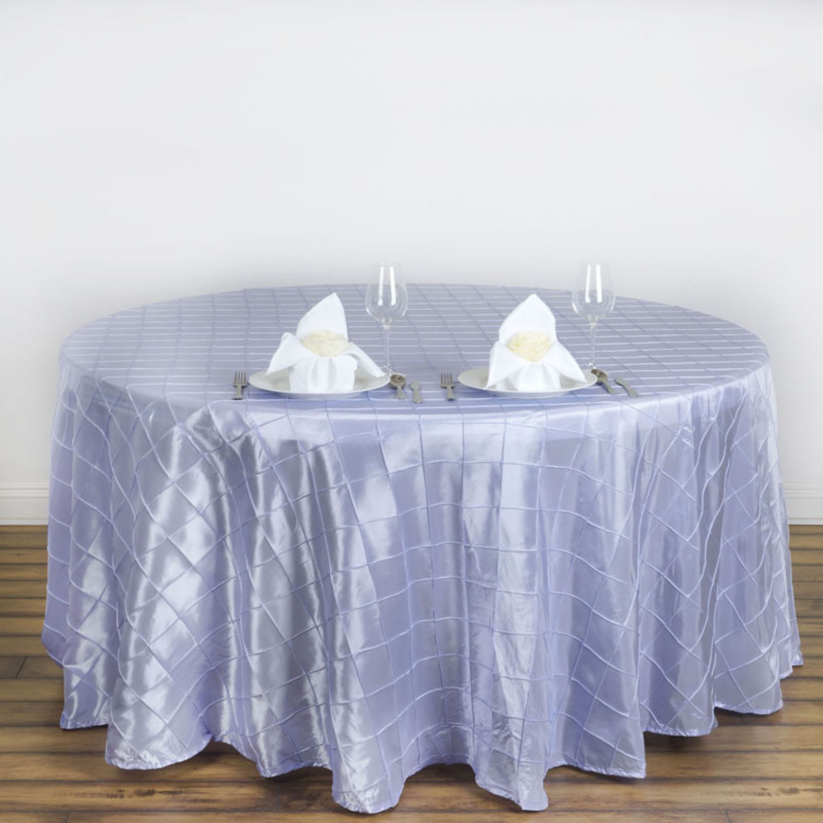 Efavormart Pintuck Tablecloths 120 Round For Kitchen Dining Catering Wedding Birthday Party Decorations Events