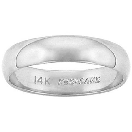 keepsake 14kt white gold 4mm wedding band
