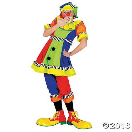 Funny Fashions Womens Spanky Stripes Clown Adults Theme Party Halloween Costume, M (10-12) - Halloween Themed Fashion