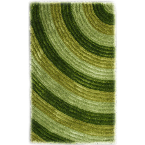 Noble House Bristol Green Shag Area Rug