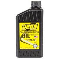 JEGS 28063 Full Synthetic Motor Oil 10W30 Single Quart