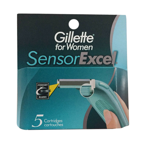 Gillette Sensorexcel Refill Shaving Cartridges For Women - 5 Ea