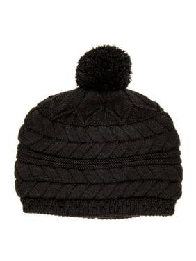 Noble Mount Womens Cityscape Pom Beanie Hat