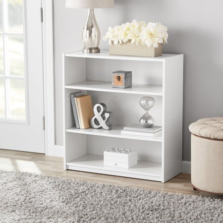 Mainstays 31 3 Shelf Standard Bookcase White