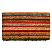 Momentum Mats Multi-stripe Extra-thick Coir Doormat (1'6 X 2'6)