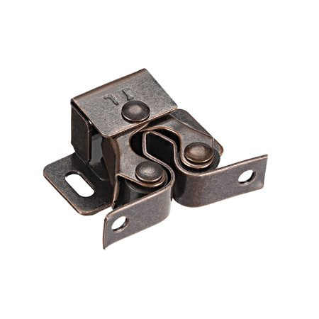 Cabinet Door Double Roller Catch Ball Latch With Prong Coppper Tone