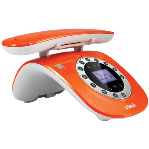 VTech VTLS6195-13 Retro-Design Phone with Rotary Keypad (Orange)
