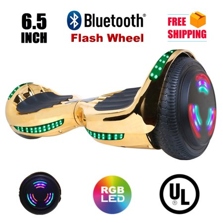 "Hoverboard 6.5""  Bluetooth Speaker Flash Wheel Self Balancing Wheel Electric Scooter with LED"