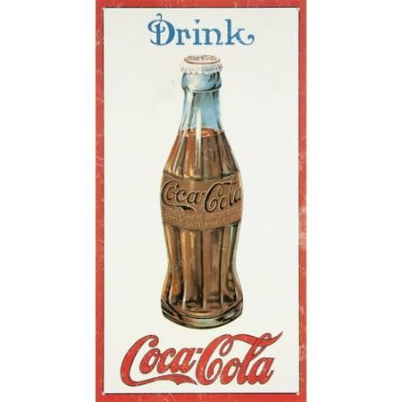 Coca Cola Metal Sign (Coca- Cola Tin Sign - 8.5x8.5)