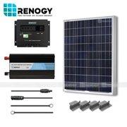 100 Watt Solar Panel System 100W Watts Poly Inverter Off Grid 12 Volt RV Boat