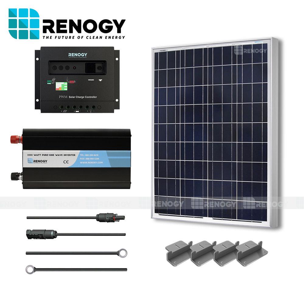 100 Watt Solar Panel System 100W Watts Poly Inverter Off ...