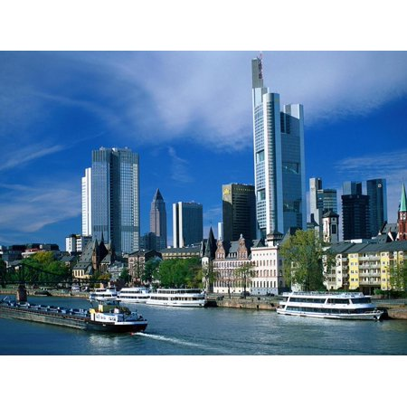 Cityscape of Frankfurt, Germany Print Wall Art By Peter Adams - Halloween Frankfurt Germany