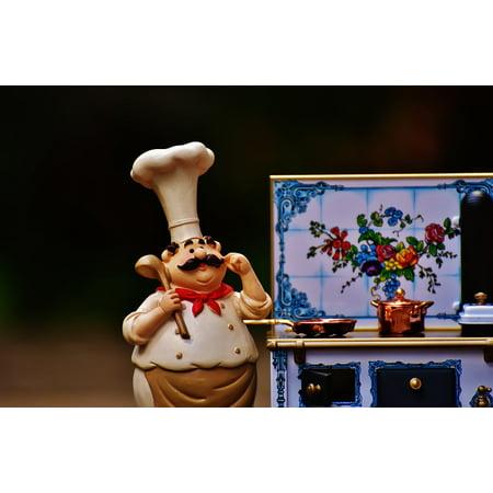 Home Gourmet Food - Cooking Eat Pan Gourmet Stove Pot Food Kitchen Poster 24x16 Adhesive Decal