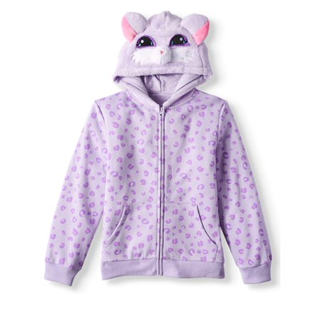 Pretty Kitty Zip 3D Hoodie (Little Girls & Big Girls)