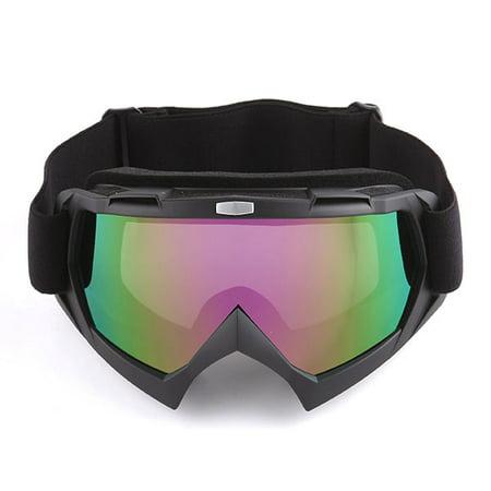 1Storm Motocross ATV Dirt Bike MX BMX Goggle Matt Black, Tinted Lens