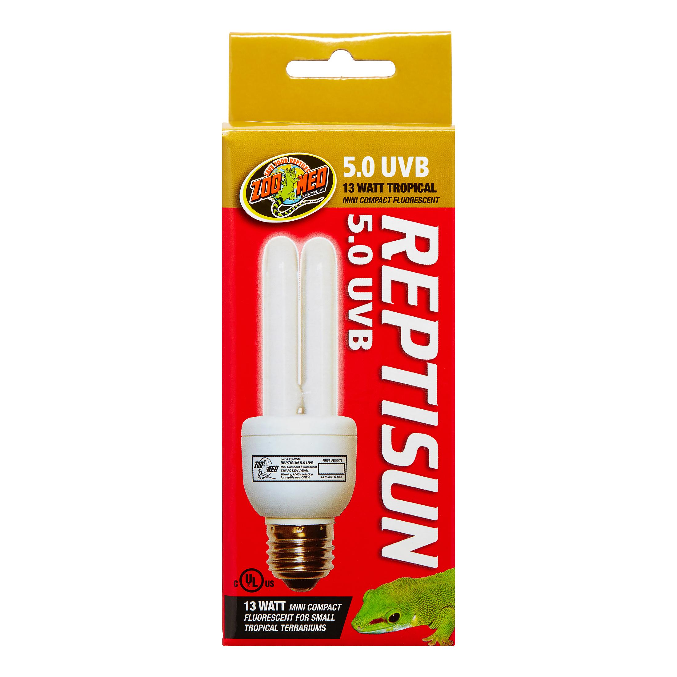 Zoo Med ReptiSun 5.0 Mini Compact Fluorescent Bulb, 13 Watt