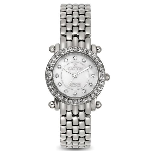Croton Women's CN207535SSMP Stainless Steel Silvertone Mother of Pearl Watch