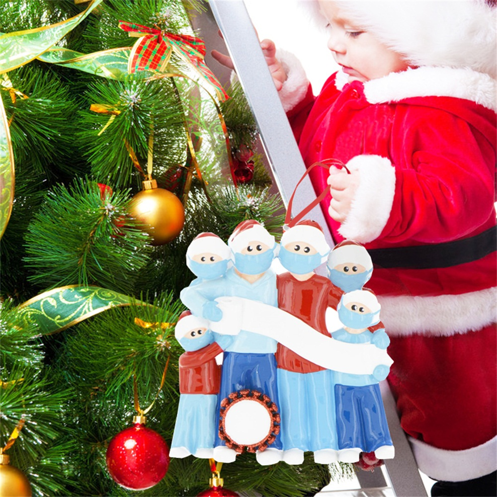 Details about  /2020 Christmas Quarantine Ornaments Family of 3 Personalized Keepsake