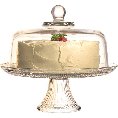Anchor Hocking Canton Cake Stand Set (Set of 2)