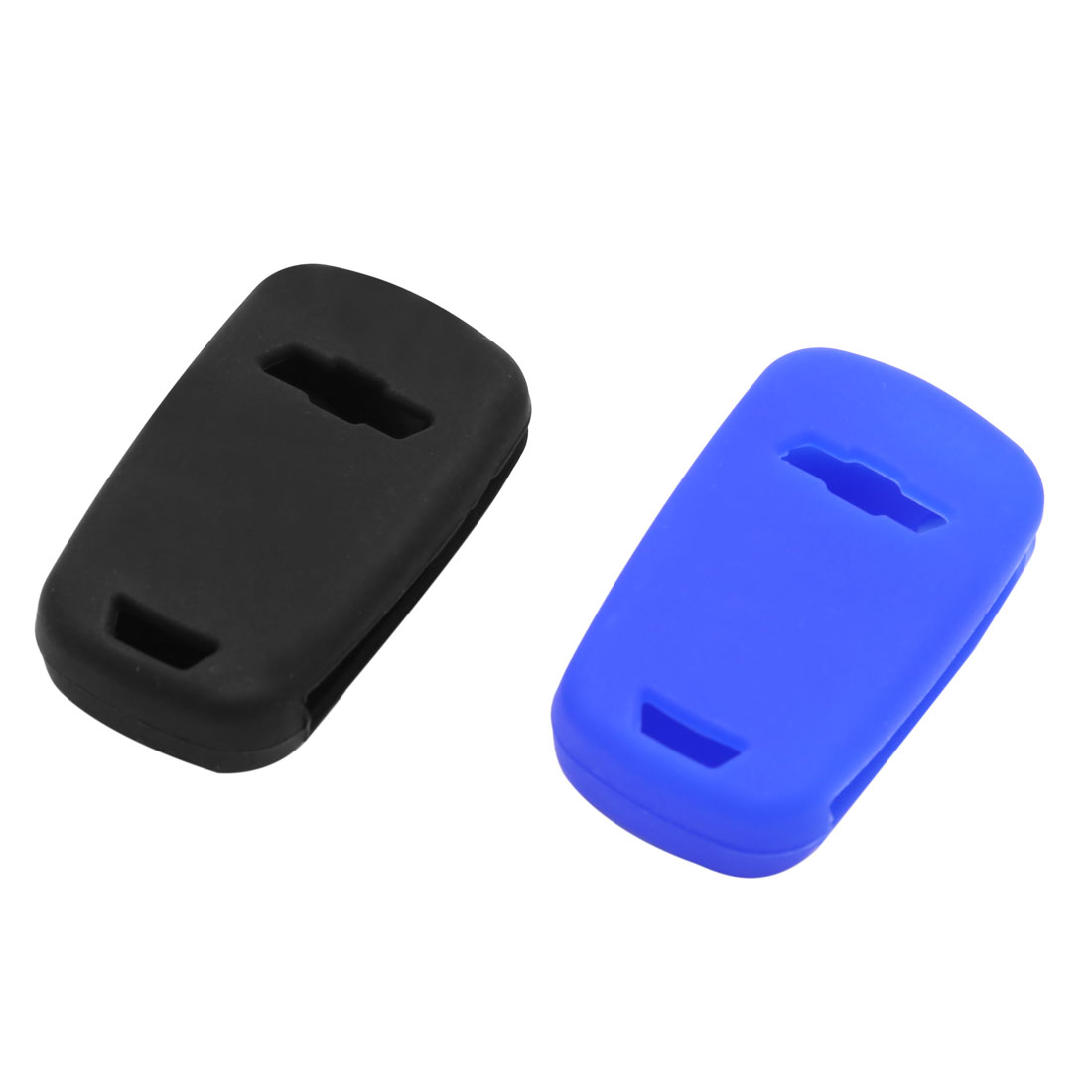2pcs Blue Black Silicone 3 Btn Remote Key Cover Holder Case Shell for Chevy Cruze - image 3 of 4