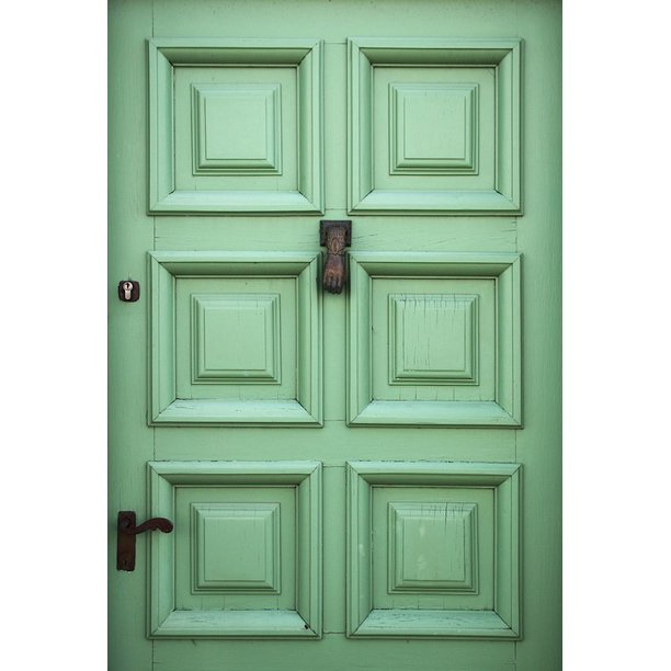 Entrance Building House Exterior Green Door 20 Inch By 30 Inch Laminated Poster With Bright Colors And Vivid Imagery Fits Perfectly In Many Attractive Frames Walmart Com Walmart Com