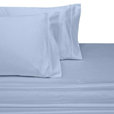 Luxury 1000 Thread Count Solid 100 Long Staple Cotton Sheets Thick Lasting Durable Sheet Set Queen Blue