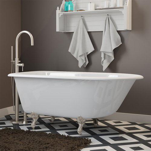 Cambridge Plumbing 55'' x 30'' Clawfoot Bathtub