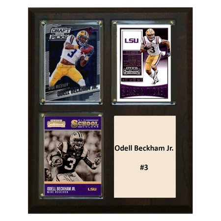 C   I Collectables Ncaa 8   X 10   Odell Beckham Jr Lsu Tigers 3 Card Plaque