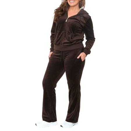 ba18dd388b0 White Mark - Women s Plus Size Velour 2 Piece Set - Walmart.com