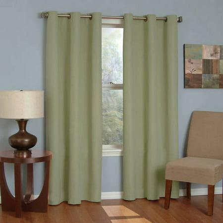 Eclipse Microfiber Energy-Efficient Grommet Blackout Curtain (Eclipse Curtains Kendall Blackout Energy Efficient Curtain Panel)