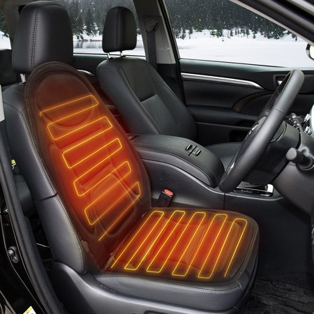 Cars Car Front Seat Heated Cover Hot Pad Heat Cushion Warm Gift Winter Heater Bla