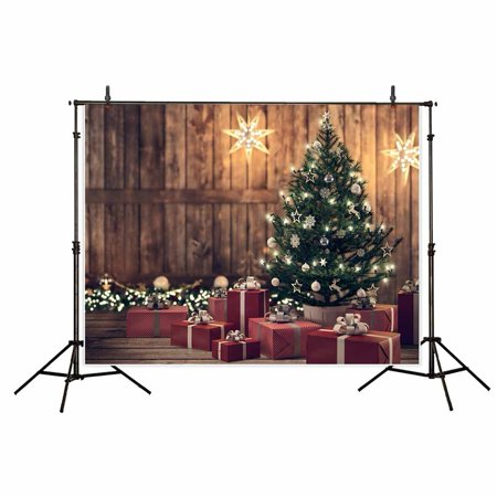 GreenDecor Polyster 7x5ft Christmas theme photography Backdrop Christmas tree gift For Family Background studio prop
