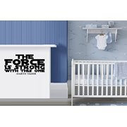 """Decal ~ THE FORCE IS STRONG WITH THIS ONE: Wall Decal, Children, Star Wars Fan (Small 13"""" x 26"""")"""