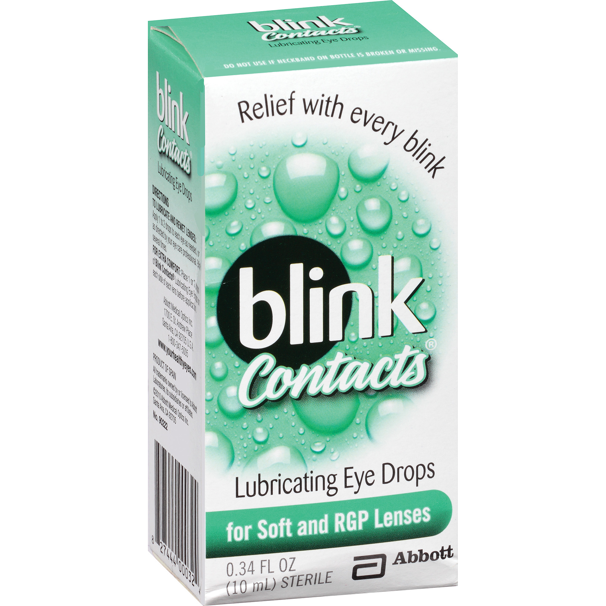 Blink Contacts Lubricating Eye Drops, 0.34 fl oz